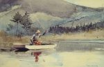 Winslow Homer - Bilder Gemälde - A Quiet Pool on a Sunny Day