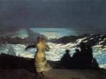 Winslow Homer - Bilder Gemälde - A Summer Night