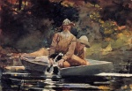 Winslow Homer - Bilder Gemälde - After the Hunt