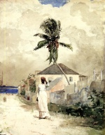 Winslow Homer - Bilder Gemälde - Along the Road, Bahamas