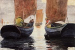 Winslow Homer - Bilder Gemälde - An Afterglow