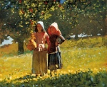 Winslow Homer - Bilder Gemälde - Apple Picking