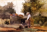 Winslow Homer - Bilder Gemälde - At the Well