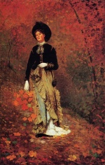 Winslow Homer - Bilder Gemälde - Autumn