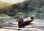 Winslow Homer - Bilder Gemälde - Boy Fishing