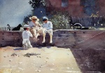 Winslow Homer  - Bilder Gemälde - Boys and Kitten
