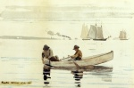 Winslow Homer  - Bilder Gemälde - Boys Fishing, Gloucester Harbor