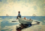 Winslow Homer  - Bilder Gemälde - Boys in a Dory