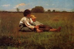 Winslow Homer  - Bilder Gemälde - Boys in a Pasture