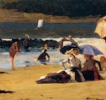 Winslow Homer  - Bilder Gemälde - By the Shore