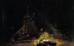 Winslow Homer  - Bilder Gemälde - Camp Fire