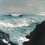 Winslow Homer  - Bilder Gemälde - Cannon Rock