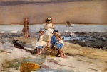 Winslow Homer  - Bilder Gemälde - Children on the Beach
