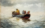 Winslow Homer  - Bilder Gemälde - Crab Fishing
