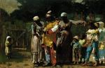 Winslow Homer  - Bilder Gemälde - Dressing for the Carnival
