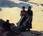 Winslow Homer  - Bilder Gemälde - Early Evening