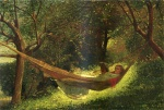 Winslow Homer  - Bilder Gemälde - Girl in a Hammock