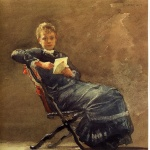 Winslow Homer  - Bilder Gemälde - Girl Seated