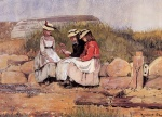 Winslow Homer  - Bilder Gemälde - Girls with Lobster