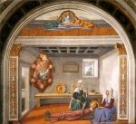 Domenico Ghirlandaio - paintings - Announcement of Death to St Fina