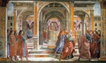 Domenico Ghirlandaio - paintings - Expulsion of Joachim from the Temple
