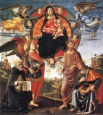 Domenico Ghirlandaio - paintings - Madonna in Glory with Saints
