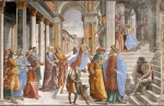 Domenico Ghirlandaio - paintings - Presentation of the Virgin at the Temple