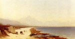 Sanford Robinson Gifford - Bilder Gemälde - The Road by the Sea, Palermo, Italy