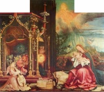 Matthias Gruenewald - paintings - Concert of Angles and Nativity