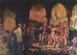 Antoine Jean Gros - paintings - Bonaparte Visiting the Pesthouse in Jaffa, March11