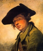 Jean Baptiste Greuze - paintings - A Young Man in a Hat