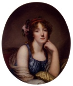 Jean Baptiste Greuze - paintings - Portrait of a Young Woman