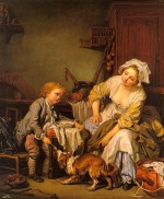 Jean Baptiste Greuze - Bilder Gemälde - The Spoiled Child