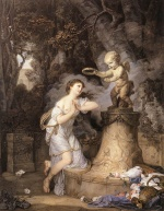 Jean Baptiste Greuze - Bilder Gemälde - Votive Offering to Cupid