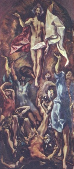 El Greco - paintings - Auferstehung Christi