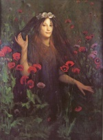 Thomas Cooper Gotch - paintings - Death the Bride