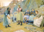 Thomas Cooper Gotch - paintings - Sharing Fish