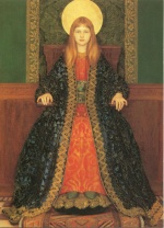 Thomas Cooper Gotch - paintings - The Child Enthroned 2