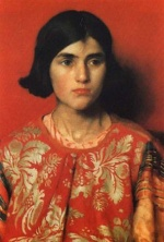 Thomas Cooper Gotch - paintings - The Exile