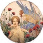 Thomas Cooper Gotch - paintings - The Message