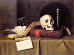 William Michael Harnett - paintings - Memento Mori (To This Favour)