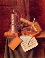 William Michael Harnett - Bilder Gemälde - Munich Still Life
