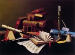 William Michael Harnett - Bilder Gemälde - Music and Literature