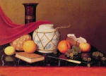 William Michael Harnett - Bilder Gemälde - Still Life with Ginger Jar