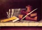 William Michael Harnett - Bilder Gemälde - Still Life with Letter to Thomas B Clarke