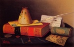 William Michael Harnett - Bilder Gemälde - Still Life Writing Table