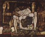 Egon Schiele  - Bilder Gemälde - Blind Mother