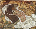 Egon Schiele  - Bilder Gemälde - Death and Girl