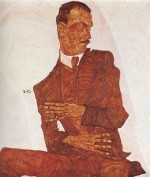 Egon Schiele  - Bilder Gemälde - Portrait of the Art Critic Arthur Roessler
