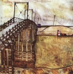 Egon Schiele  - Bilder Gemälde - The Bridge